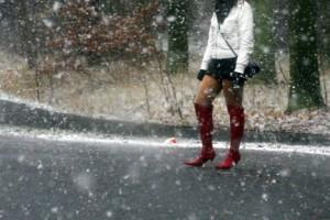 Straßenstrich im Winter; eine kalte Angelegenheit