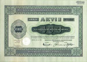 RWE-Aktie von 1958