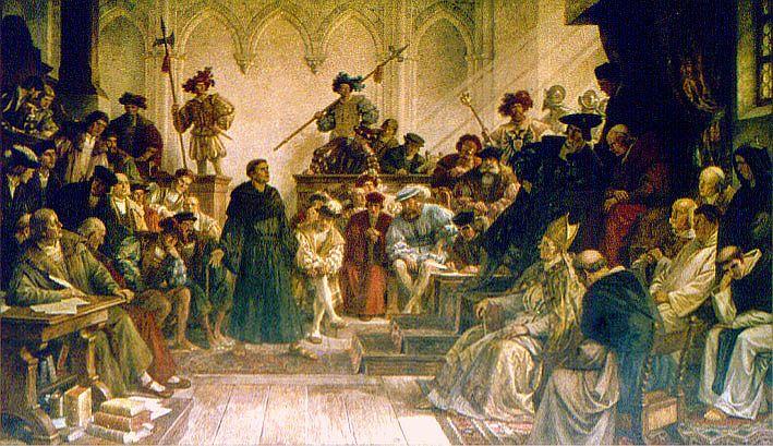 Luther vor dem Reichstag