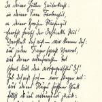 Faksimile Gustav Sacks