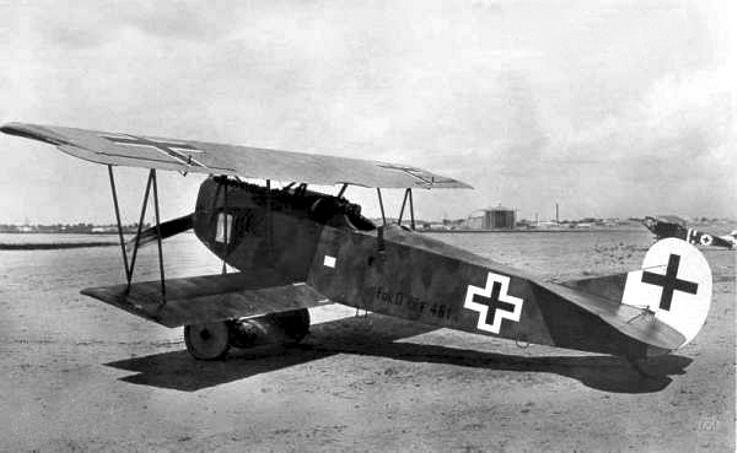 Deutsches Flugzeug Fokker D.XIIf im Ersten Weltkrieg