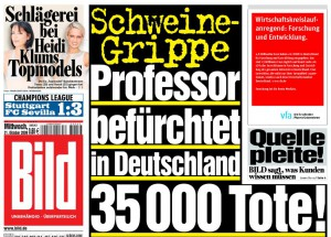 Schlagzeile der BILD-Zeitung vom 27. Oktober 2009