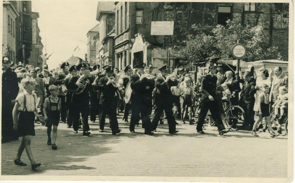 Festlicher Empfang Sladkys 1951 in der Essener Straßej