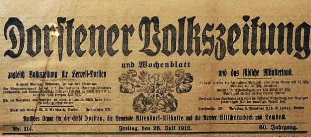 """Dorstener Volkszeitung"" 1912"