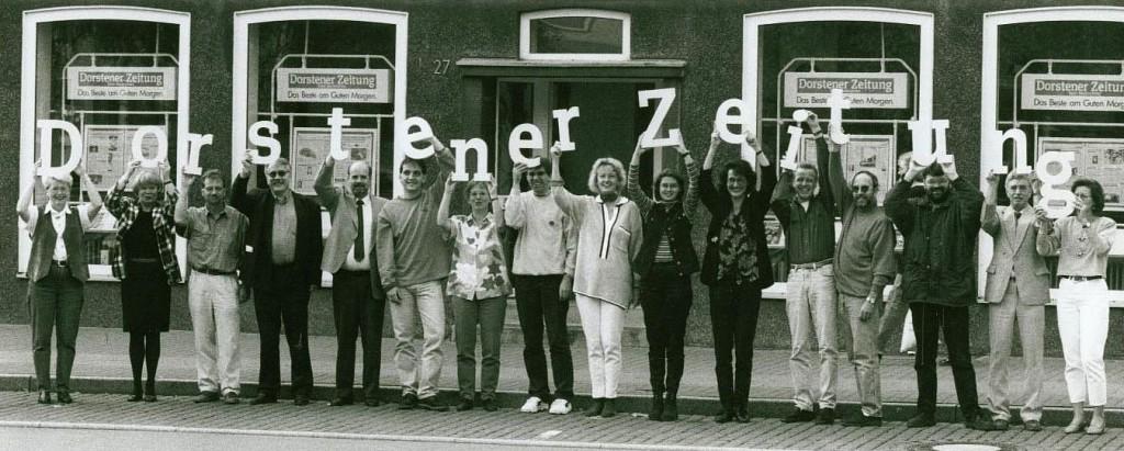 """1996 wurde aus den """"Ruhr-Nachrichten"""" die """"Dorstener Zeitung"""""""