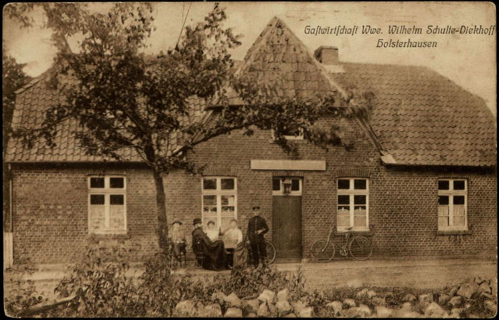 In dieser Wirtschaft in Holsterhausen gab es eine Auseinandersetzung zwischen Landfahrern und Polizei (Foto von 1909)