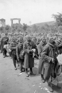 Polnische Kriegsgefangene 1941 an der Schleuse