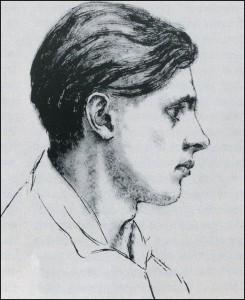 Selbstporträt, Tusche, zwischen 1928 und 1932