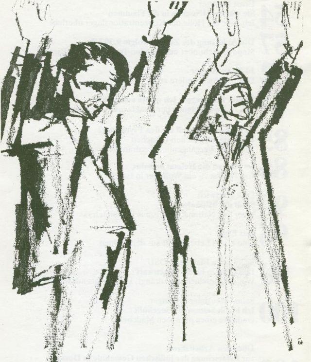 Tusche-Zeichnung von Tisa von der Schulenburg
