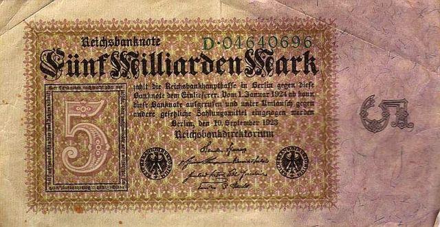 1923 fünf Milliarden! Reich? Keineswegs!