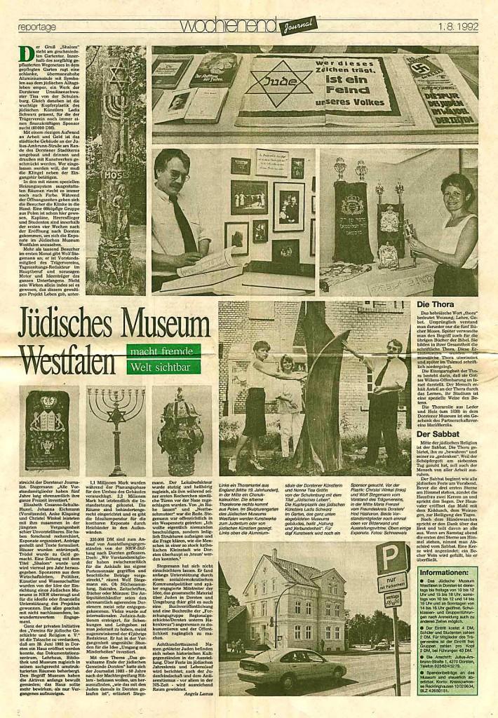 Recklinghäuser Zeitung vom 1. August 1992