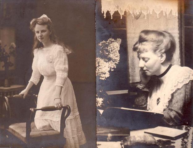 Um 1910 im Forsthaus Nttefort