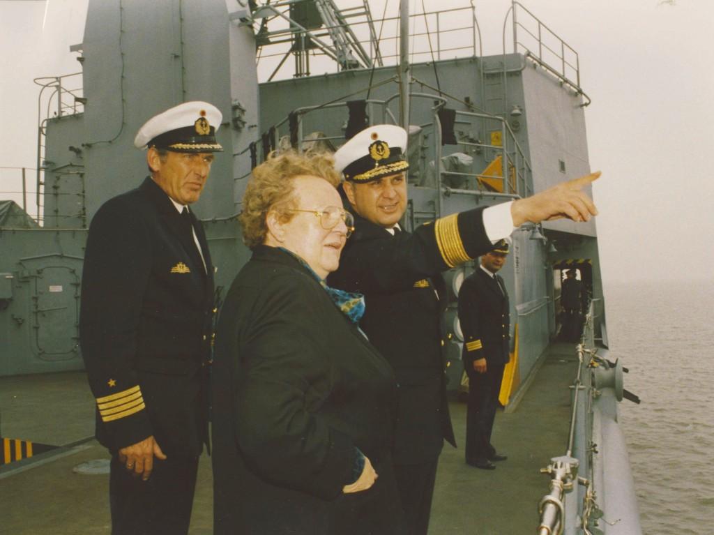 Agnes Hürland im Dienst