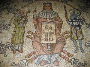 Konrad von Hochstaden, Mosaik im Kölner Dom (Detail)