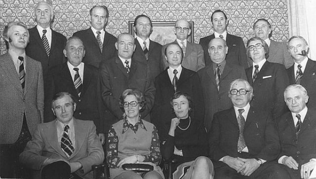 Letzter Gemeinderat von Wulfen 1974; Foto: Wulfen-Wiki