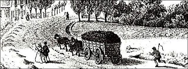 Der historische Kohlenweg von ..... nach .............. vor 250 Jahren