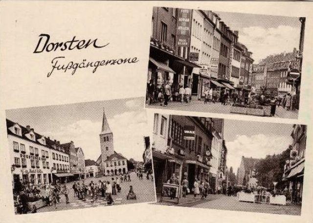 Mit eigener Postkarte stolz auf die neue Fußgängerzone