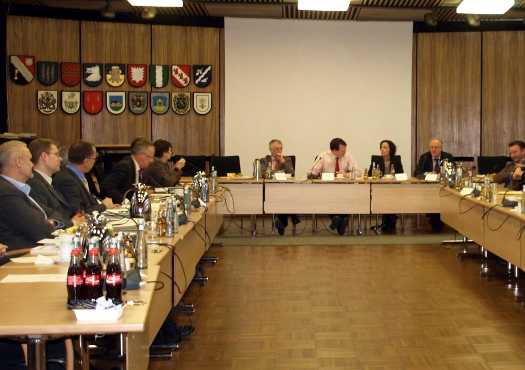 Sitzung Stärkungspaket im Dorstener Ratssaal; Foto entnommen Website Stadt Dorsten
