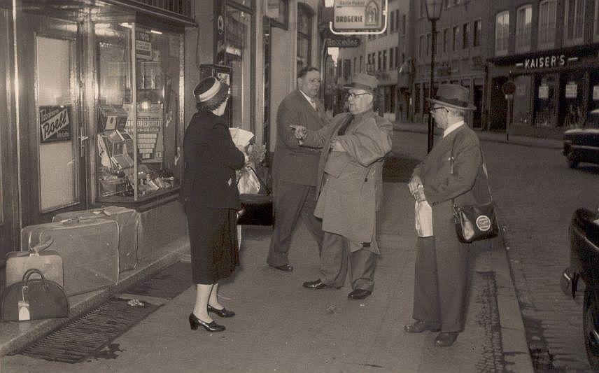Eisendrath-Besuch aus Chigaco 1952 in Dorsten, Lippestraße