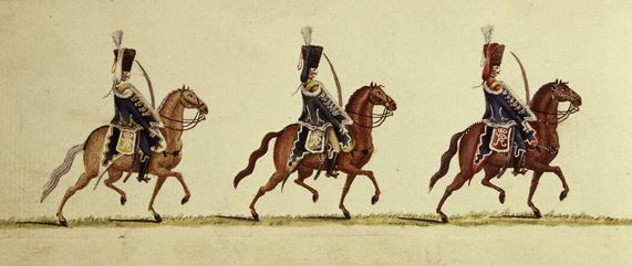 Preußische Husaren im 18. Jahrhundert