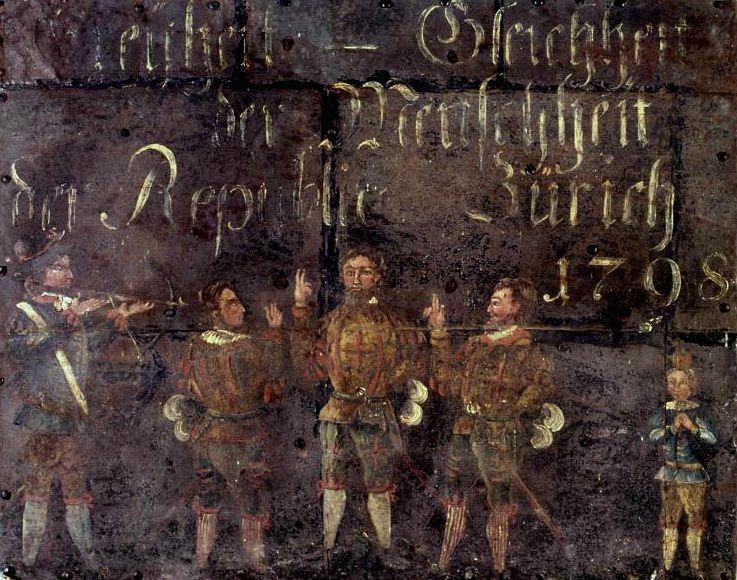 Darstellung des Rütlschwurs auf die Republik Helvetia (1798)