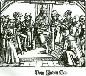 Ablegung des so genannten Juden-Eids 1509 in Augsburg
