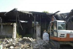 Abriss der Gebäude; Foto: Guido Bludau