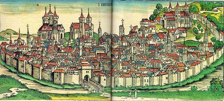 Universitätsstadt Erfurt (Schedelsche Weltchronik)