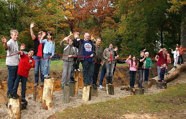 Dorstener Arbeit eröffnete Bewegungsparcours Nähe Dimker Allee; Foto: Wulfen-Wiki