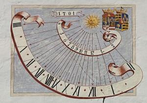 Sonnenuhr aus dem Jahr 1701