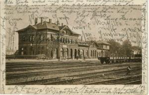 Postkarte mit dem Bahnhof 1913