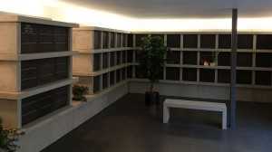 Neuartige Begräbnisstätte: das Kolumbarium auf dem Waldfriedhof in Holsterhausen