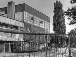 Das inzwischen abgerissene Hallenbad Dorsten