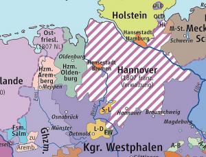 Karte mit Einzeichnung des Herzogtums Arenberg