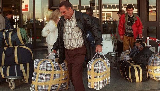 Ankunft deutscher Spätaussiedler aus der Sowjetunion