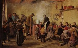 Armenversorgung bzw. Suppenküche, Gemälde von Albert Anker