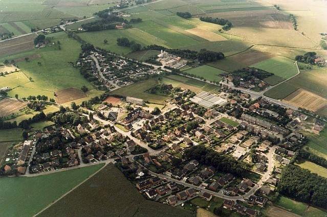 Altendorf-Ulfkotte aus der Vogelschau; Foto: Archiv Biermann