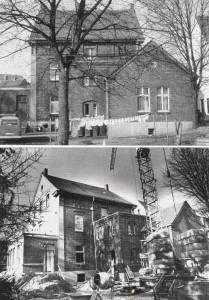 Oben: Vor dem Umbau; darunter wähend des Umbaus