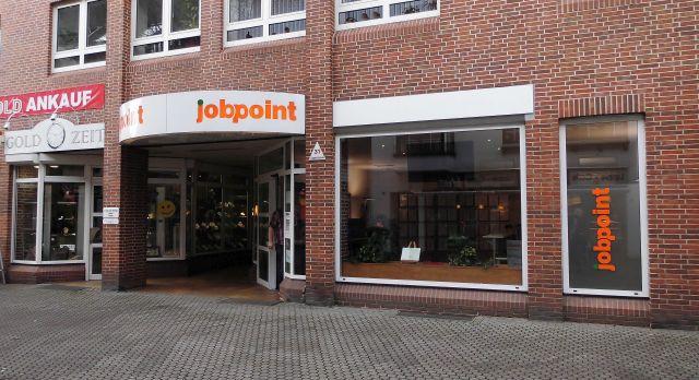 """Neuer """"Jobpoint"""" in der LIppestraße in Dorsten (wer kein Englisch versteht: """"Arbeitspunkt""""); Foto: Wolf Stegemann"""