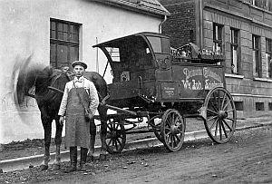 MIt einem Pferdewagen fing alles an: Johann Spielmann 1907