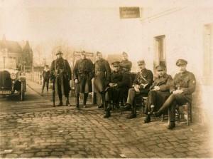 Besetzte Lippebrücke 1923 (Grenz- ud Zollstation)