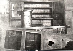 Von Belgiern zerstörte Einrichtung der Zeche 1924