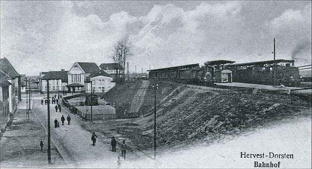 Bahnhof Hervest-Dorsten 1914