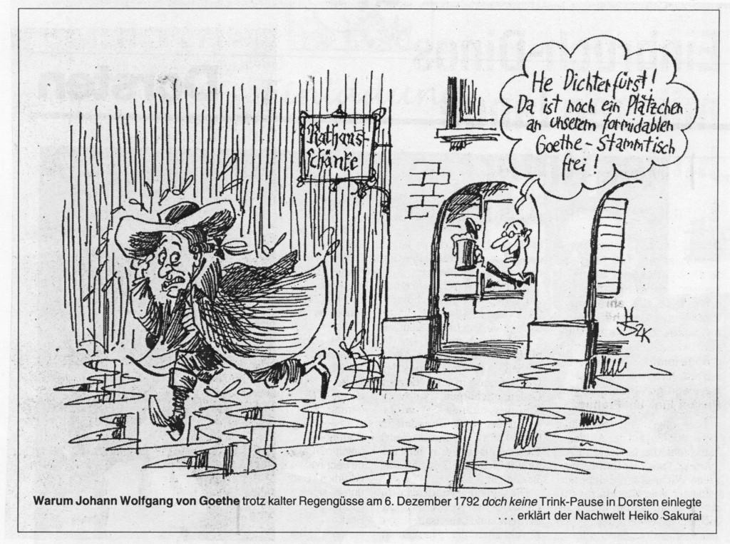 Karikatur in der WAZ