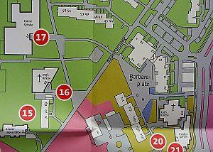 Informationsplan über die Nummerierung in Barkenberg
