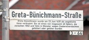 Straßenname in Münster