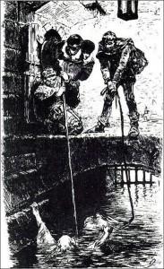 Die Wasserprobe, Zeichnung von 1878