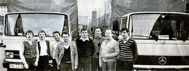 Abfahrtbereit Osterwoche 1981 (Namen im Text); Foto: privat, entn. DZ