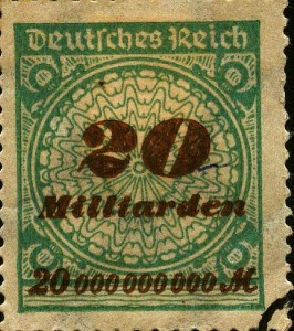 Briefmarke mit Übverdruck