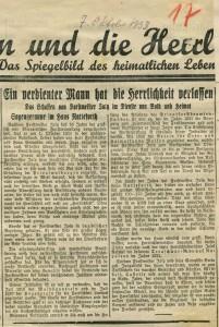 Würdigung in der Dorstener Volkszeitung 1933